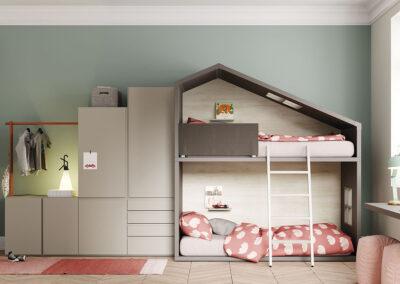 habitacion infantil litera espais joves