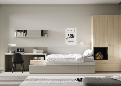 habitacion juvenil cama con cajones espais joves