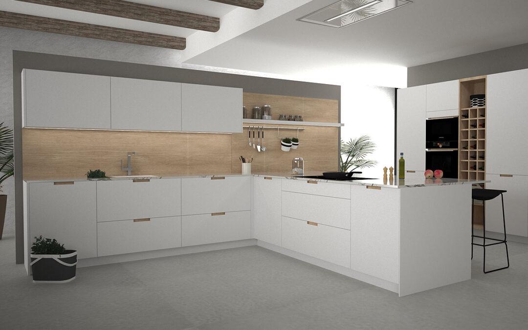 Muebles de cocina integrados perfectamente con nuestra casa