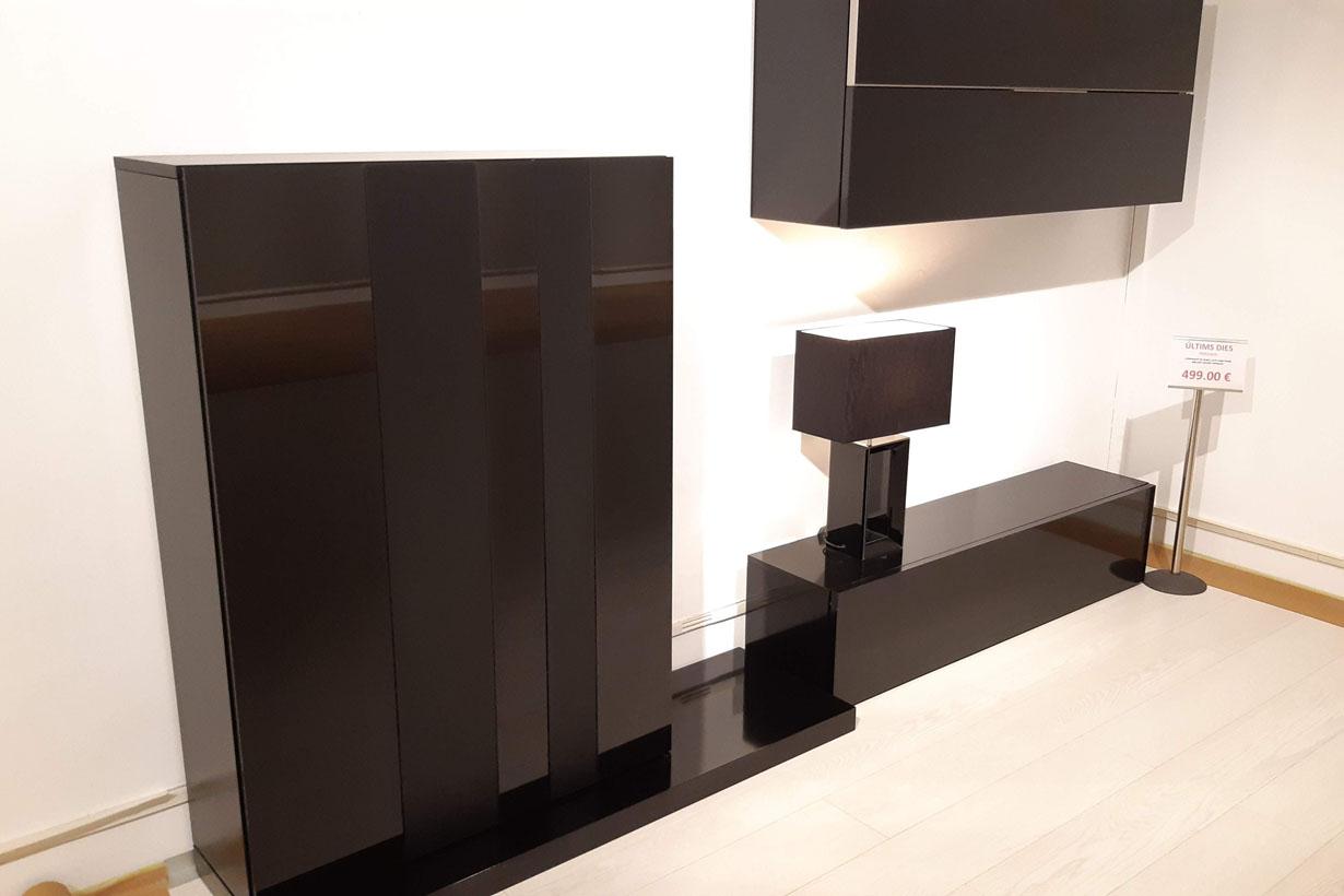 liquidacion mueble lacado negro